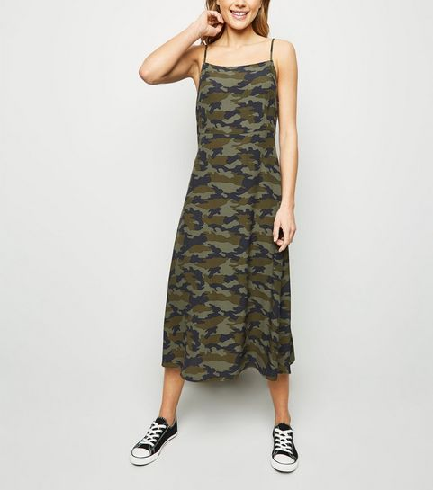 ac882c0791 ... Green Camo Slip Dress ...