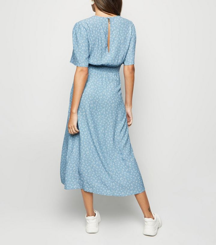 0f21189ad7ef ... Blue Ditsy Floral Split Midi Dress. ×. ×. ×. Shop the look