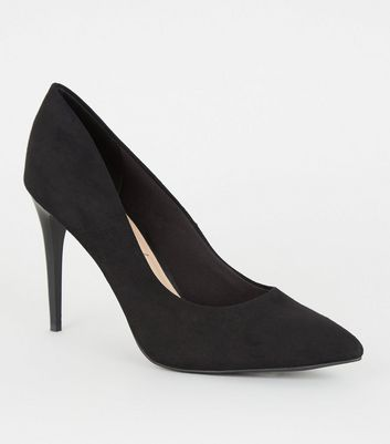 Black Leopard Print Insole Pointed Court Shoes