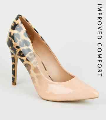 329a412eec Nude Ombré Leopard Print Court Shoes ...