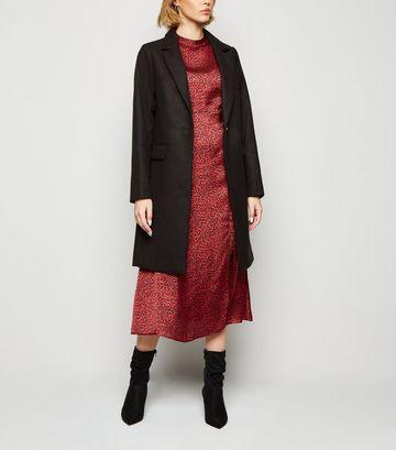 Black Revere Collar Coat