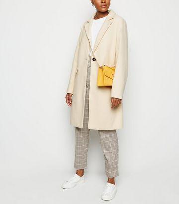 Cream Revere Collar Coat