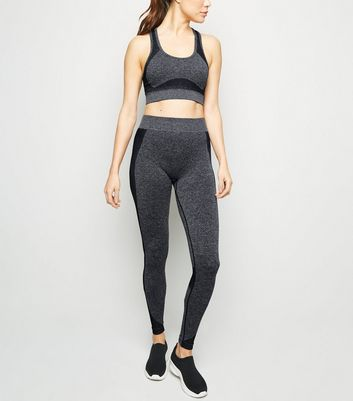 Dark Grey Seamless Moisture Wicking Leggings