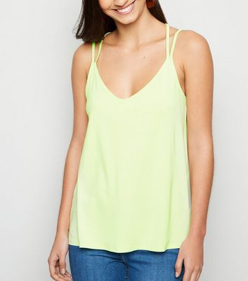 Green Neon Cross Back Cami