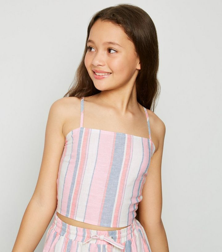 cc8f3937e4 Pink Stripe Linen Blend Cami