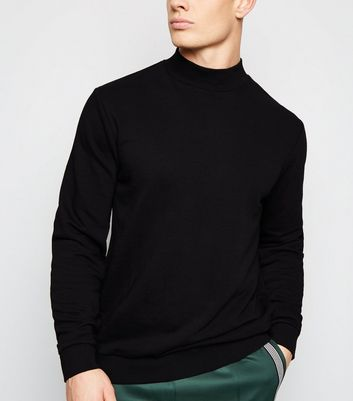 Black Turtleneck Long Sleeve Sweatshirt