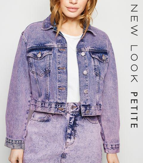 5436898a548 ... Purple Acid Wash Denim Jacket ...