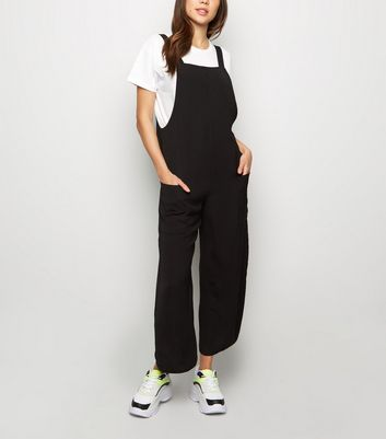 Tall Black Dungaree Jumpsuit