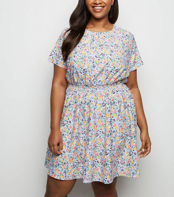 3f906a5ba9e2 Curves Purple Ditsy Floral Dress