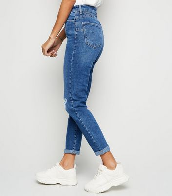 New Look Womens Lift and Shape Ripped Skinny Jeans