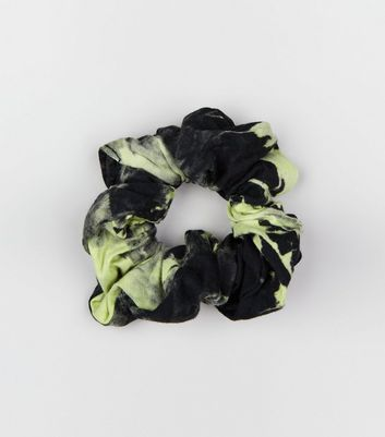 Green Tie Dye Scrunchie