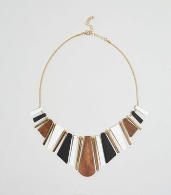 WANTED Multicoloured Wood Stick Necklace