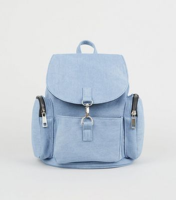 Blue Denim Backpack