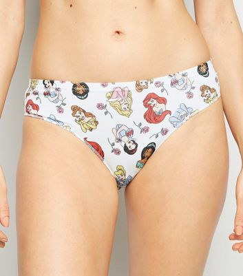 White Disney Princess Bikini Briefs