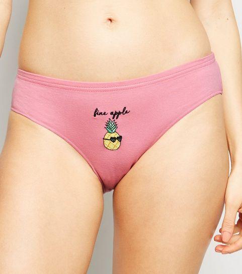 b54f28482b4 ... Bright Pink Fine Apple Bikini Briefs ...