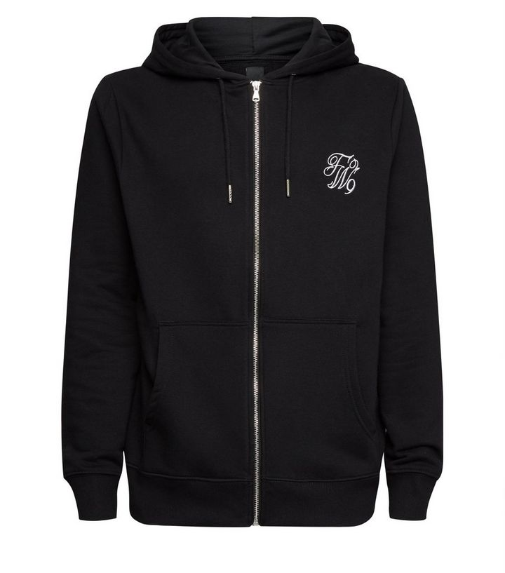 e27912e2c Black TW9 Embroidered Zip Up Hoodie Add to Saved Items Remove from Saved  Items