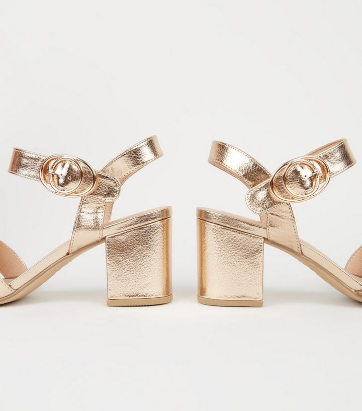 fac70fcfab7 ... Wide Fit Rose Gold 2 Part Block Heel Sandals. ×. ×. ×. Shop the look