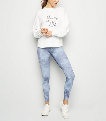 Light Grey Tie Dye Print Sports Leggings