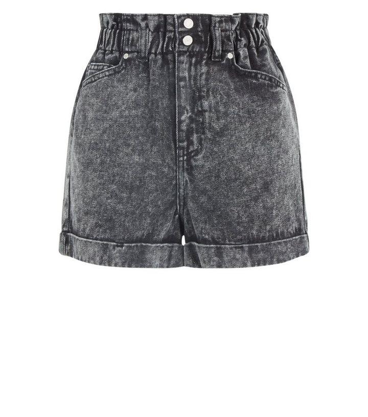 30b7efaef0a93 ... Black Acid Wash Paperbag Denim Shorts. ×. ×. ×. Shop the look