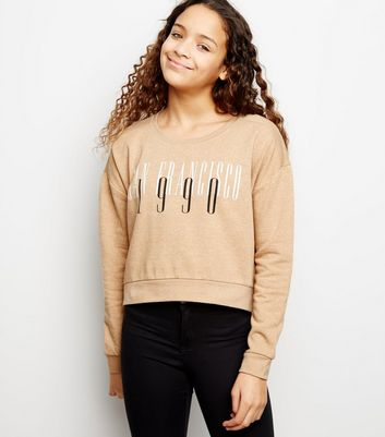 Girls Camel San Francisco Slogan Sweatshirt