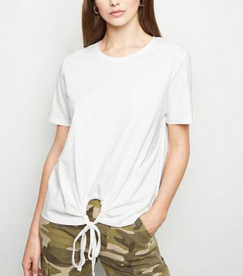 JDY White Ring Front T-Shirt