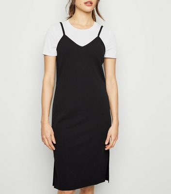 Jdy Black T Shirt And Slip Dress by New Look