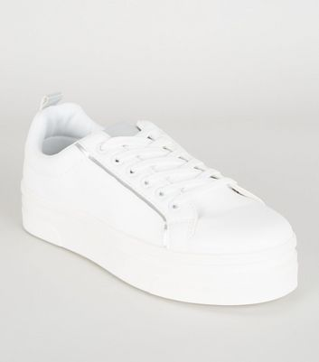 Femme Weiße Sneaker Leder Leder Sneaker Weiße Sneaker Weiße Femme Weiße Sneaker Femme Leder WYbEDHe29I