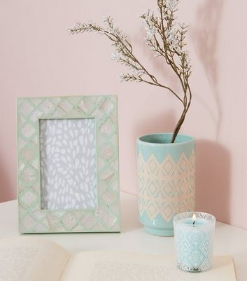 Green Mother Of Pearl Photo Frame