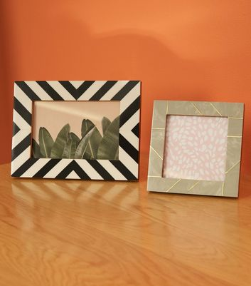 Grey Marble Effect 4x4 Square Photo Frame