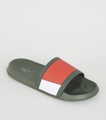 Dark Green Colour Block Sliders