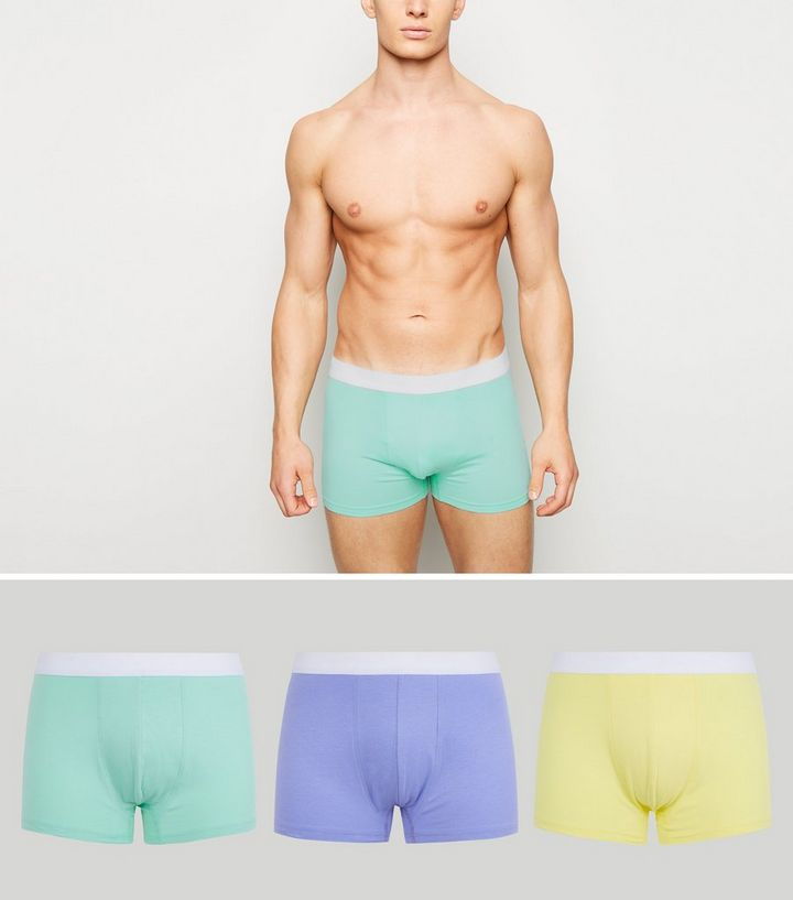 52bc70461e 3 Pack Multicoloured Pastel Trunks | New Look