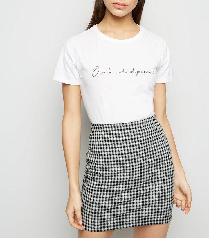 2592a25083225d Petite Black Gingham Tube Skirt | New Look