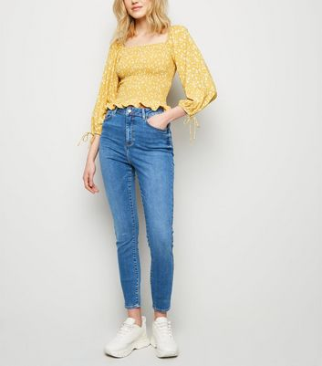 Tall Blue 'Lift & Shape' Skinny Jeans