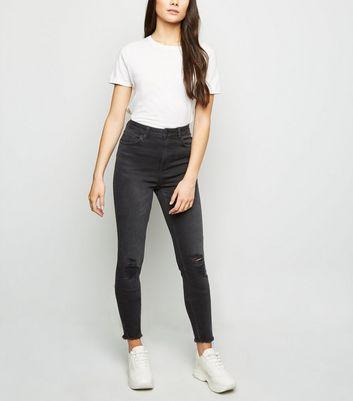 Tall Black 'Lift & Shape' Ripped Jeans