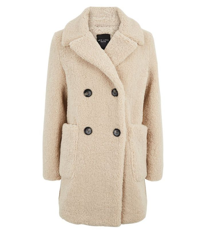 Petite Cream Teddy Coat