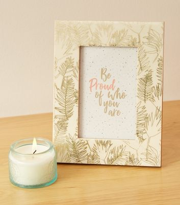 Gold Palm Leaf Slogan 6x4 Photo Frame