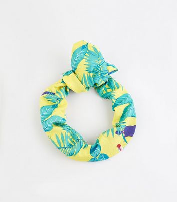 Multicoloured Tropical Print Knot Headband
