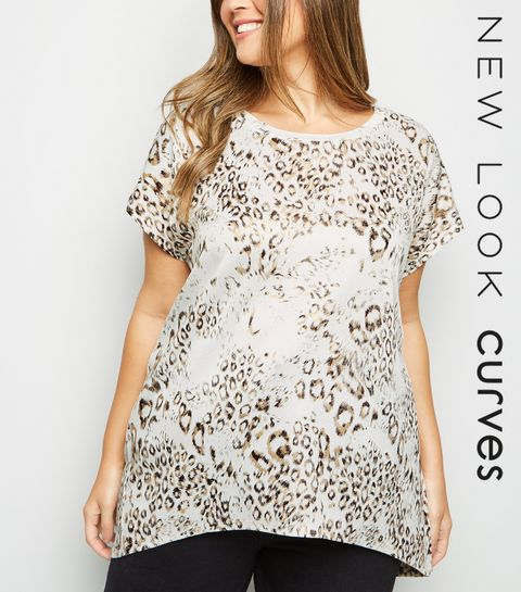 49280578b65da ... Blue Vanilla Curves White Metallic Leopard Print Top ...