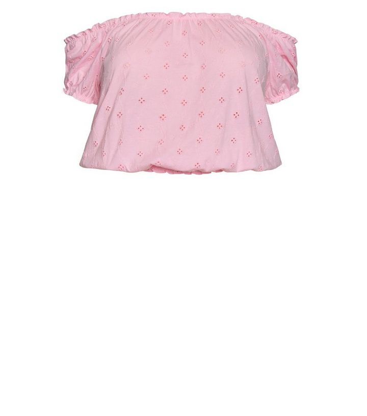 1844a1ac073 ... Curves Mid Pink Broderie Milkmaid Top. ×. ×. ×. Tap image to zoom in.  Shop the look