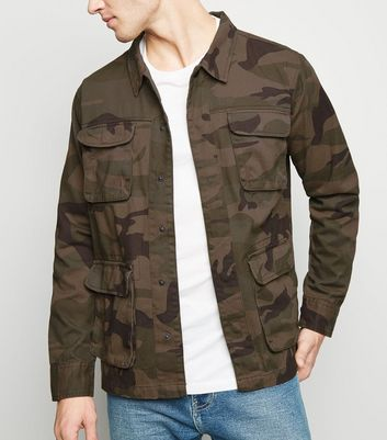 Green Camo Long Sleeve Shacket