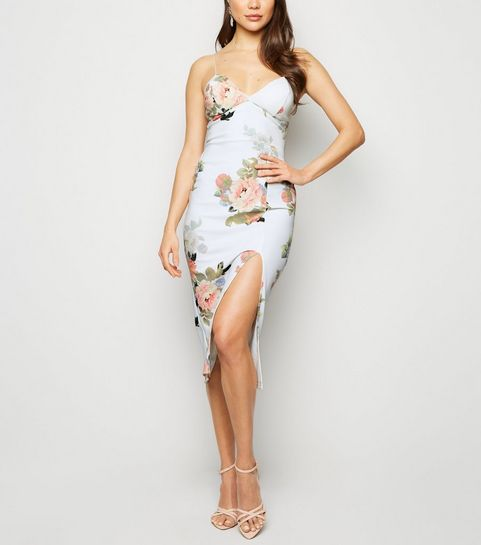 7ccd412b7c4e White Floral Midi Dress · White Floral Midi Dress ...
