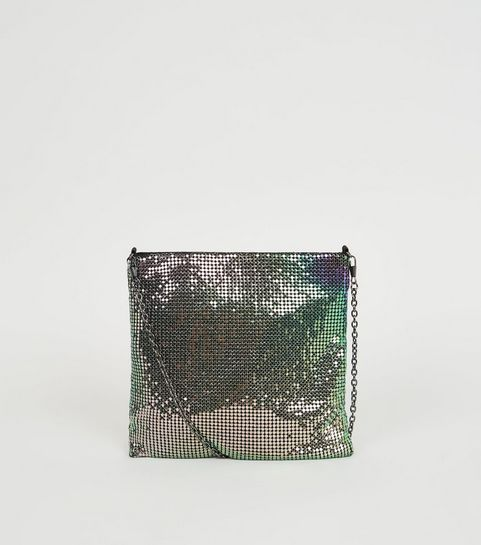 d898e3184f79f Multicoloured Chainmail Cross Body Bag · Multicoloured Chainmail Cross Body  Bag ...