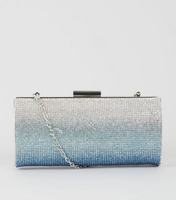 Blue Ombré Diamanté Clutch Bag Add to Saved Items Remove from Saved Items