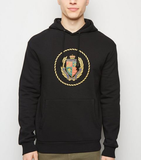Black Brooklyn Crest Embroidered Hoodie · Black Brooklyn Crest Embroidered  Hoodie ... d2343d085