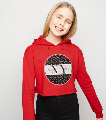 Girls Red New York Logo Hoodie