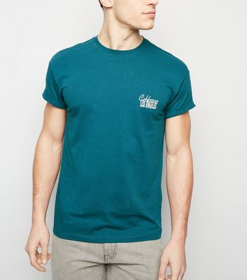 Teal LA Embroidered T-Shirt