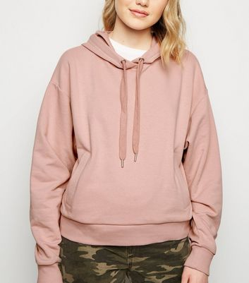 Pale Pink Side Pocket Hoodie