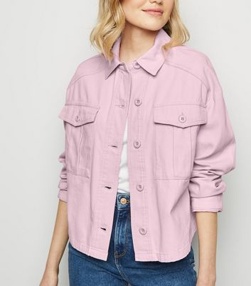 Lilac Cropped Utility Shacket