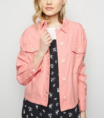 Pink Cropped Utility Shacket