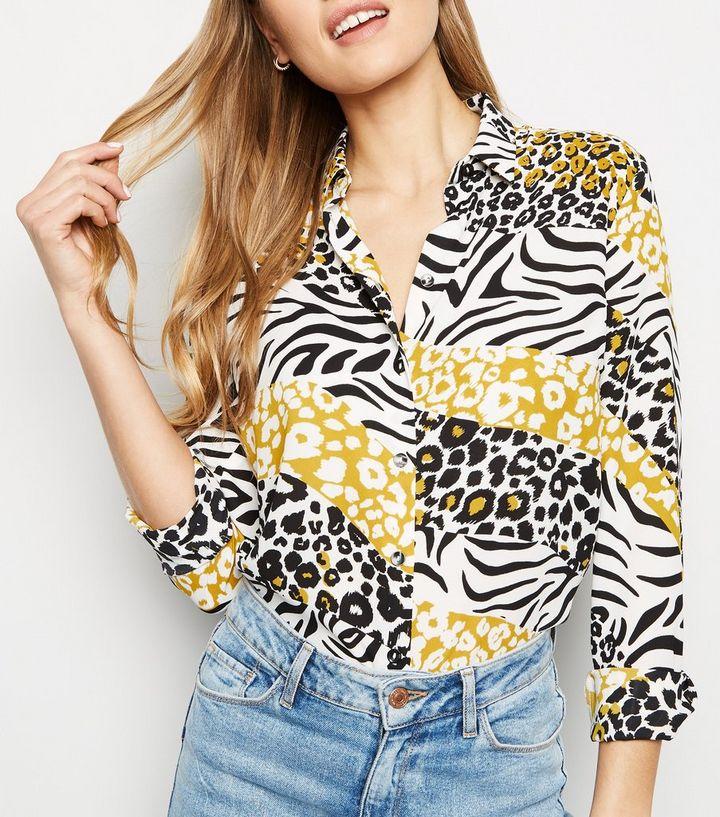 54c693a5 ... Yellow Mixed Animal Print Long Sleeve Shirt. ×. ×. ×. Shop the look